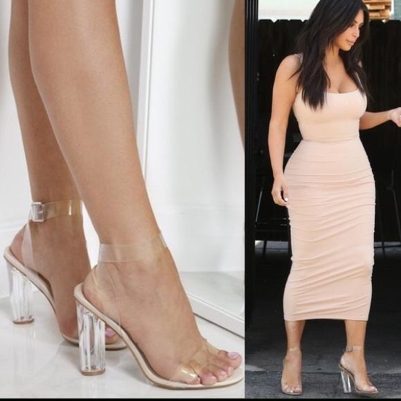 e5509d408b6 Public Desire Alia Clear Heeled Sandals